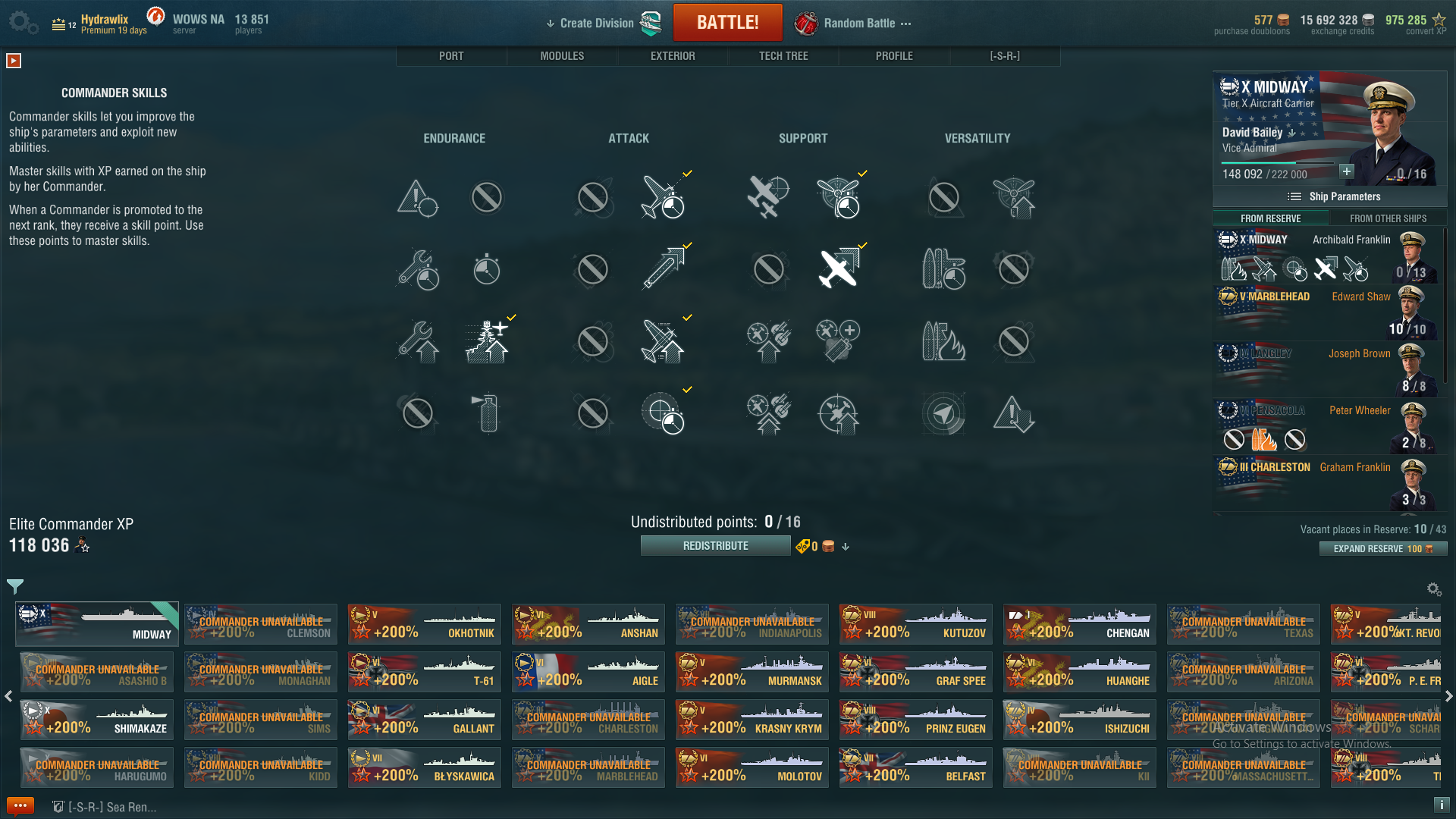 8 0 cv captain skills  - aircraft carriers