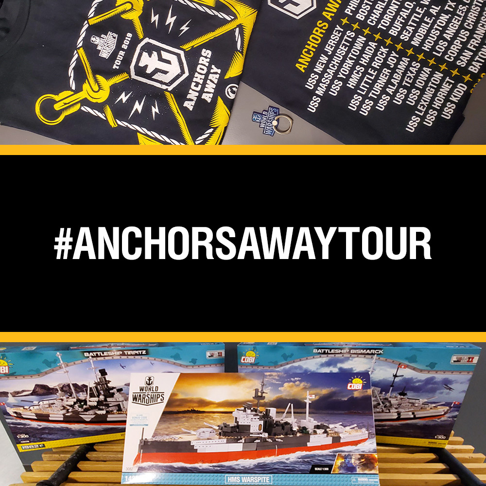 Anchors Away Tour 2019: Swag and Prizes - Events - World of